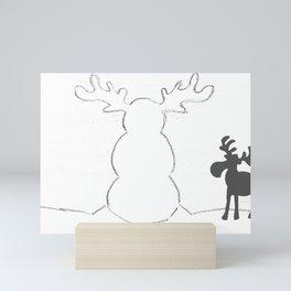 Snowmoose Mini Art Print