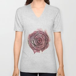 english pen rose Unisex V-Neck