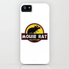 mouse rat logo jurasic parody iPhone Case