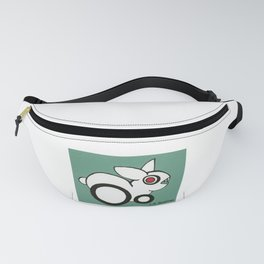 Red-Eye White Rabbit with Pointy Teeth Fanny Pack