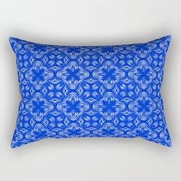 Sapphire Blue Shadows Rectangular Pillow