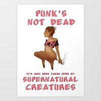 Punk Faun - Punk's Not Dead... Art Print