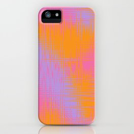 Yellow Pink and Purple Design iPhone Case