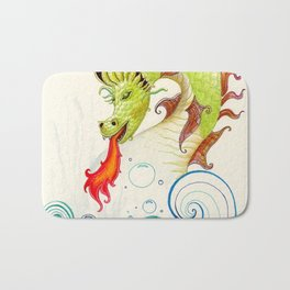 A happy dragon Bath Mat