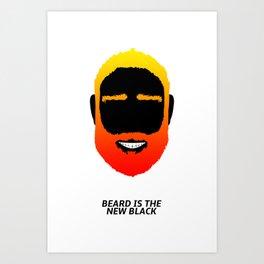 BEARD IS THE NEW BLACK Art Print