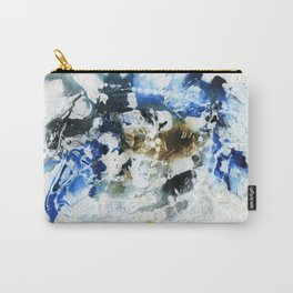 Blue, brown and black abstract Carry-All Pouch