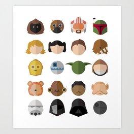 Star Friends Art Print