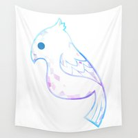 birdy Wall Tapestries featuring Diamond Birdy by Zennore
