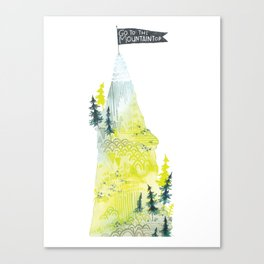 Go To The Mountaintop. Canvas Print