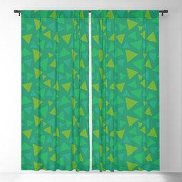 animal crossing grass pattern triangle spring green Blackout Curtain