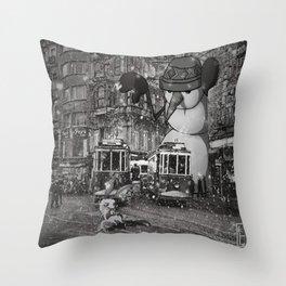 istiklal_snowman Throw Pillow