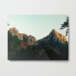 Green Mountains of Zion Metal Print