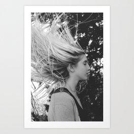 Whip my hair  Art Print