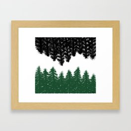 Lost in Thought (green) Framed Art Print