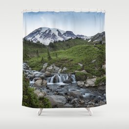 Edith Creek and Mount Rainier Shower Curtain