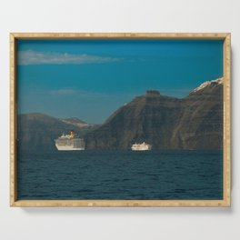 Santorini, Greece 5 Serving Tray