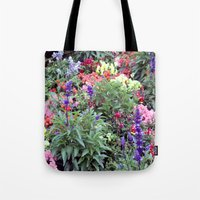 sweden Tote Bags featuring Sweden Flowers by Cynthia del Rio