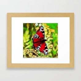 Peacock Butterfly Dream | Aglais io - Oil Painting Framed Art Print