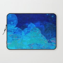 Deep Blue Night Sky Glow Laptop Sleeve