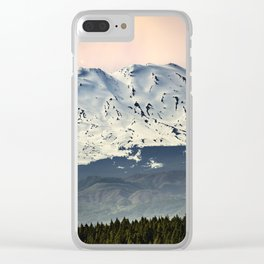 Mount St. Helens at Sunset Clear iPhone Case
