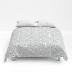 Icosahedron Soft Grey Comforters