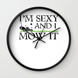 Garden mowers pun gardener joke gift Wall Clock