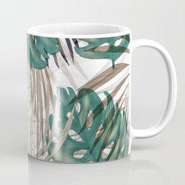 Tropical Leaves Nature Print Palm Fronds Coffee Mug