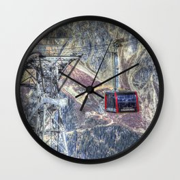 Mont Blanc Cable Car Wall Clock