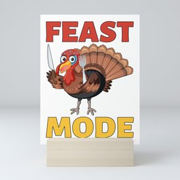 Feast Mode Mini Art Print