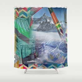 Geometrie sul Monte Bianco Shower Curtain