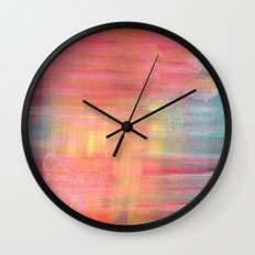 Sunset Background Wall Clock