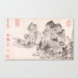 Landscape in the Style of Yan Wengui and Fan Kuan Canvas Print