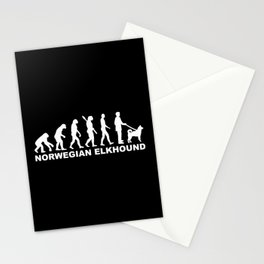 Norwegian Elkhound evolution Stationery Cards