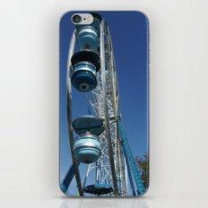 blue ferris wheel iPhone & iPod Skin