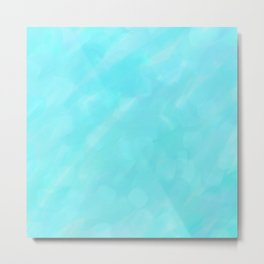 Soft Blue Crystal Abstract Metal Print