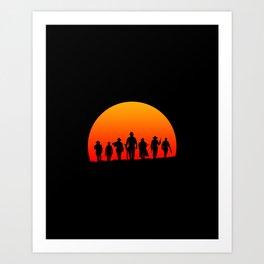 Western Sunset Art Print