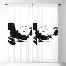 Black and white duck Blackout Curtain