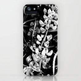 Lupinus #2 (black) iPhone Case