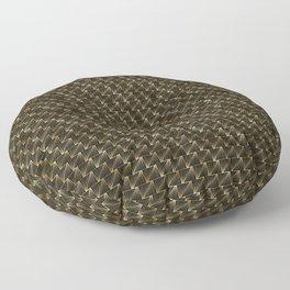 Diagonal Triangles in Black and Gold Vintage Faux Foil Art Deco Vintage Foil Pattern Floor Pillow