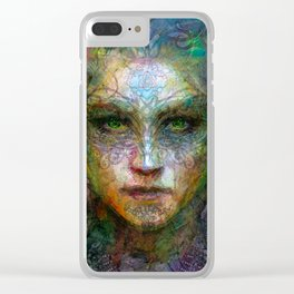 Tribal girl Clear iPhone Case