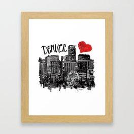 I love Denver Framed Art Print