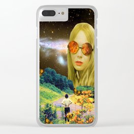 Distant Meeting Clear iPhone Case