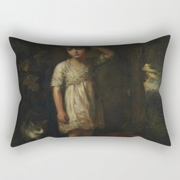 "Thomas Gainsborough ""A boy with a cat"" Rectangular Pillow"