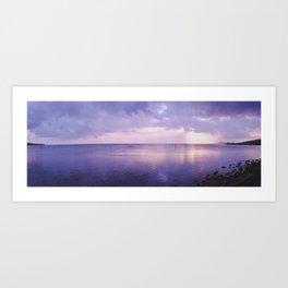 Oahu Sunset - Panoramic Art Print