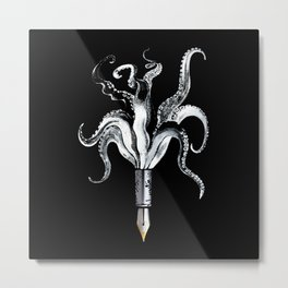 Fountain Octo Pen Metal Print