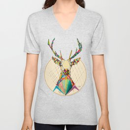 Illustrated Antelope Unisex V-Neck