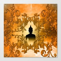 buddha Canvas Prints featuring Buddha  by nicky2342