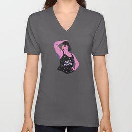 GRL POWER Girl Poer Feminist Design Unisex V-Neck