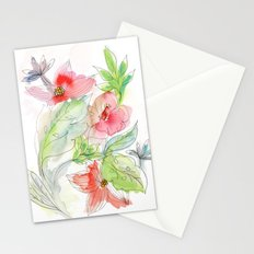 My tropical flowers Stationery Cards