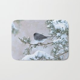 Snow Day Junco Bath Mat